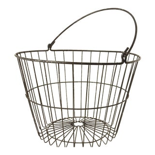 Rustic Industrial Wire Egg Basket