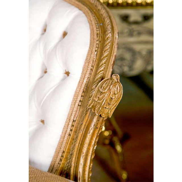 carved louis xv style canape settees pair chairish. Black Bedroom Furniture Sets. Home Design Ideas
