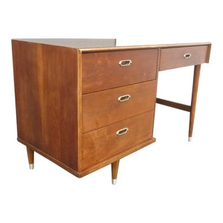 1969 Danish Mid-Century Peg Leg Writing Desk