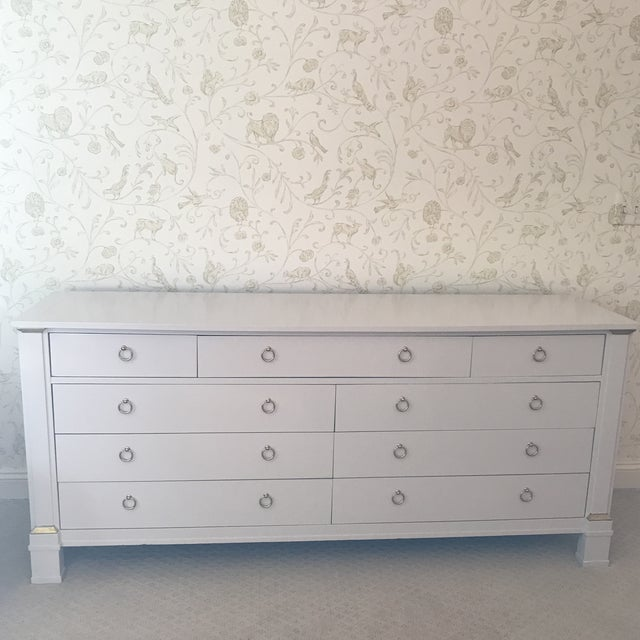 Vintage Baker Dresser With Brass Accents - Image 2 of 10