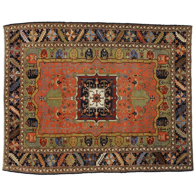 "Contemporary Persian Heriz Rug - 15' x 18'10"" - Image 9 of 9"