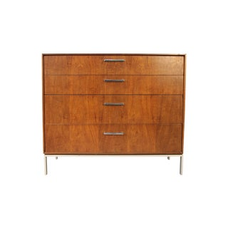 Mid-Century Rosewood With Chrome 4 Drawer Dresser