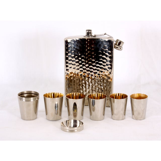 German Flask with Shot Glasses - Set of 7 - Image 2 of 4