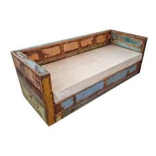Reclaimed Boat Wood Sofa