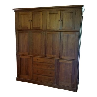 Ian Ingersoll Custom Cherry Shaker Cabinet