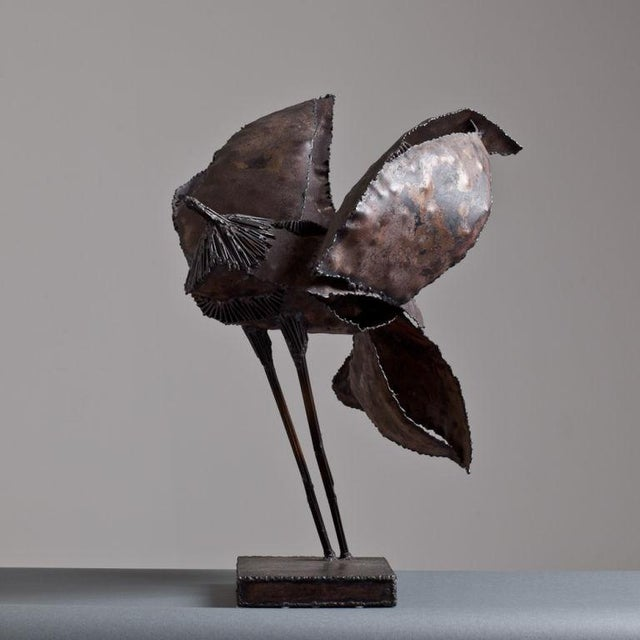 A Brutalist Abstract Bird Table Sculpture attributed to Curtis Jere Late 1960s - Image 3 of 5