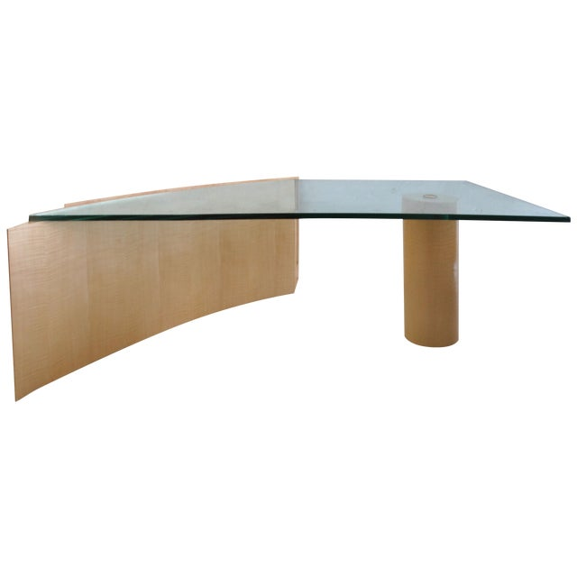 Curved Edge Glass Coffee Table: Asymmetrical Curved Wood Coffee Table