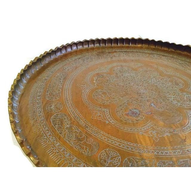 Vintage Etched Turkish Tea Tray - Image 2 of 7