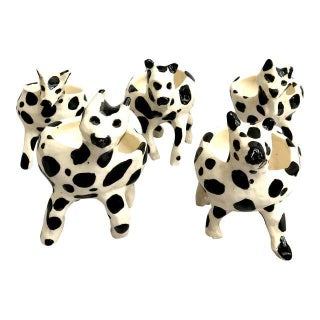 Cow Patterned Ice Cream Dishes - Set of 5