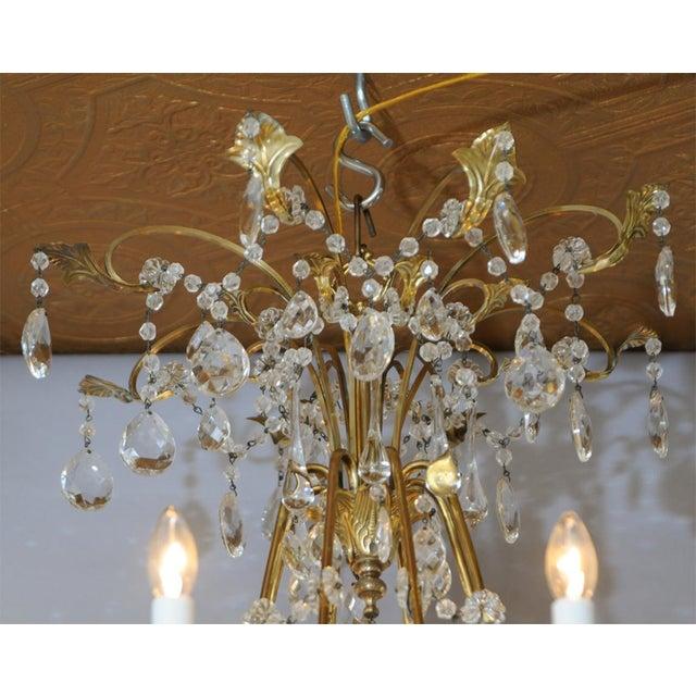Fine German Eight-Light Bronze Chandelier - Image 6 of 10