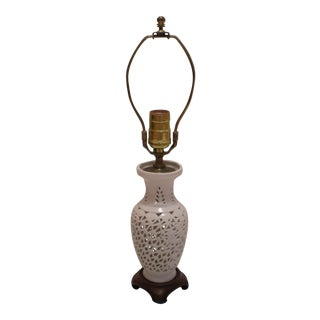 Vintage Blanc De Chine Desk Lamp