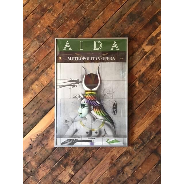 Vintage Aida Metropolitan Opera Lithograph Poster - Image 2 of 3