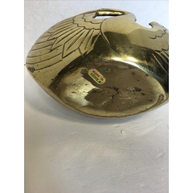 Art Deco Style Brass Swan Basket - Image 8 of 8