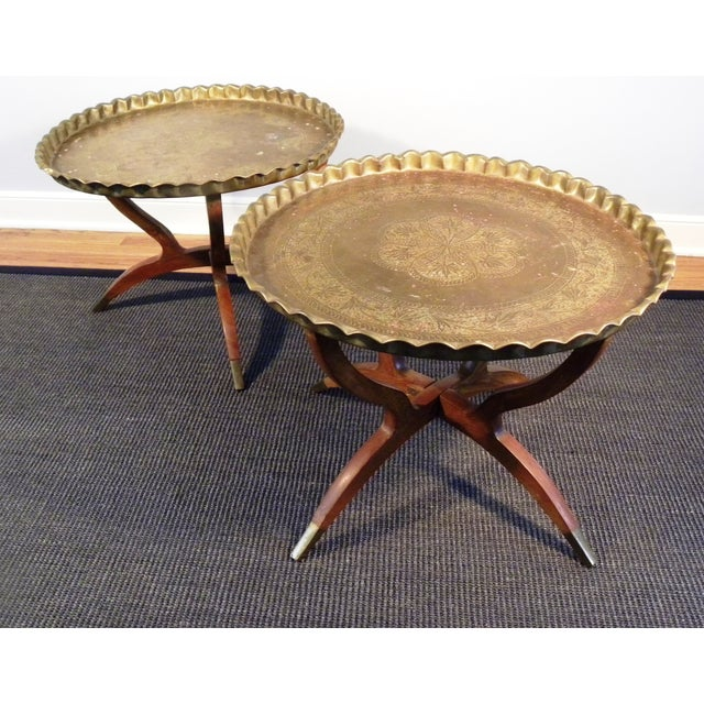 Vintage Moroccan Tea Tables/End Tables-A Pair - Image 4 of 5