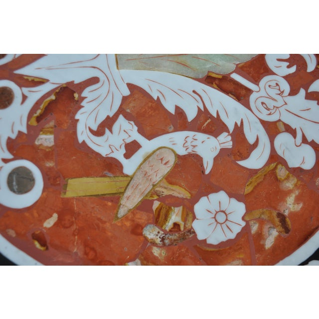 Vintage Pietra Dura Mosaic Side Table - Image 8 of 8