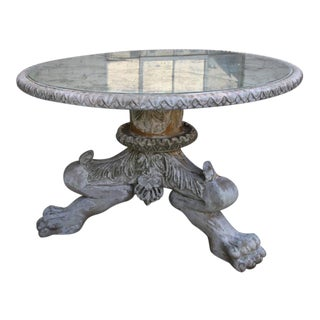 Italian Painted Antiqued Mirror Topped Table