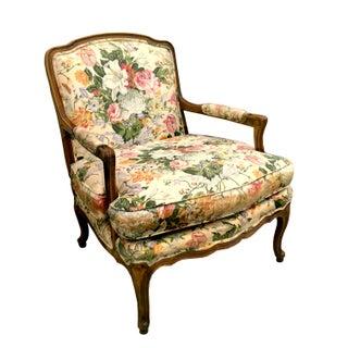 Vintage Baker Floral Fauteuil Chair