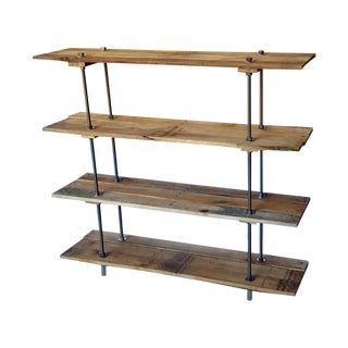 Vintage Reclaimed Wood Pallet 4 Shelf Bookcase