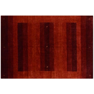 Red Indian Gabbeh Rug - 6′8″ × 9′9″