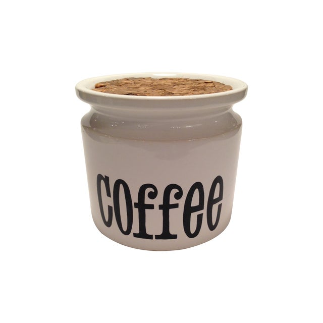 English Stoneware Coffee Canister - Image 1 of 7