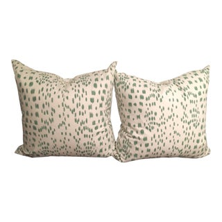 Les Touches Green Pillow Covers - A Pair