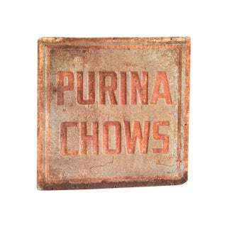 Vintage Purina Chow Sign