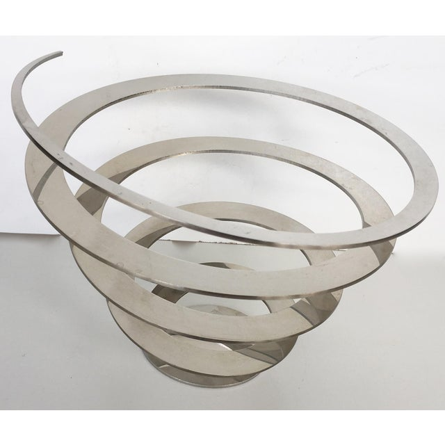 Danish Modern Steel Swirl Fruit Bowl / Centerpiece - Image 2 of 6