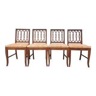 Mid-Century Modern Walnut Dining Chairs - Set of 4