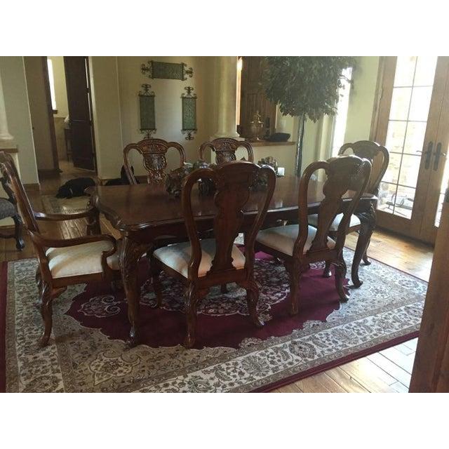 Image of Bernhardt Engraved Cherrywood Dining Set
