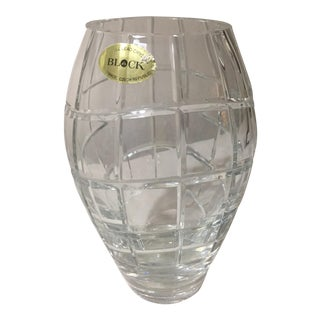 Block Crystal Ellipse Vase