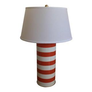 Dana Gibson Orange & White Lamp