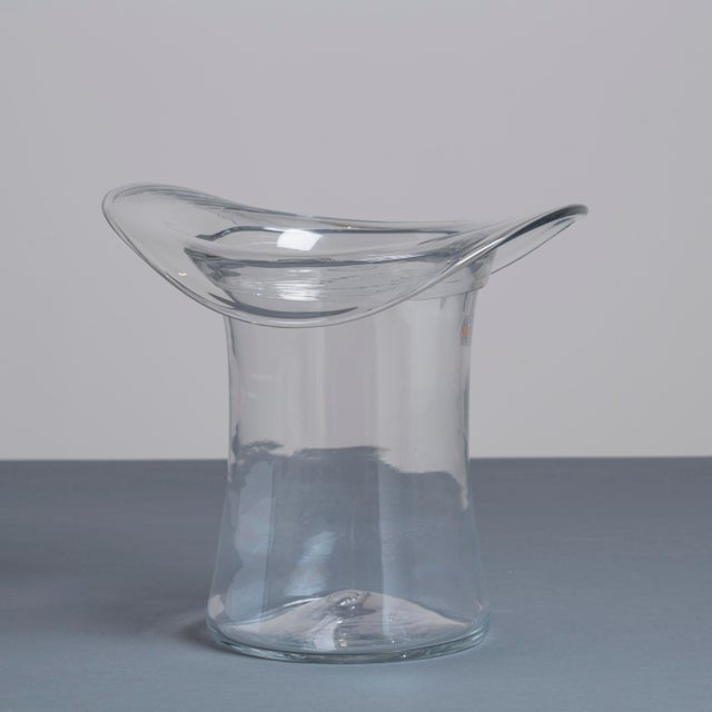A Blenko Glass Top Hat Ice Bucket USA 1980s stamped - Image 2 of 3
