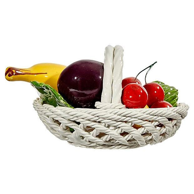 Image of 1970s Fruit Ceramic Basket