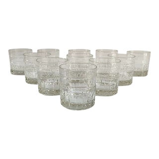 Vintage French St Louis Crystal Tumblers - Set of 11
