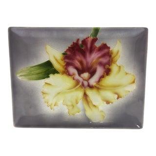 Vintage Japanese Cloisonne Tutanka Orchid Tray