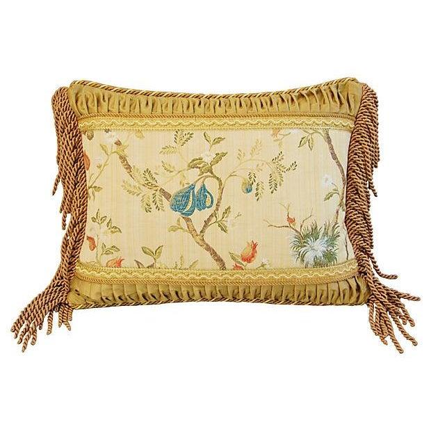 Designer Scalamandre Melograno Lampas Pillow - Image 2 of 6