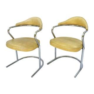 1970s Chrome Chairs - A Pair