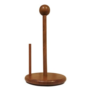 Teak Paper Towel Holder