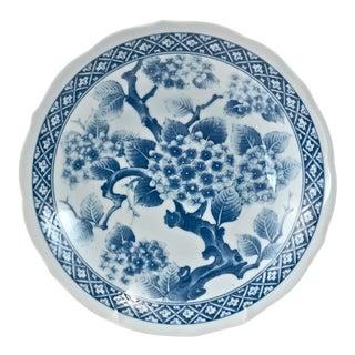 Japanese Blue & White Cherry Blossom Bowl