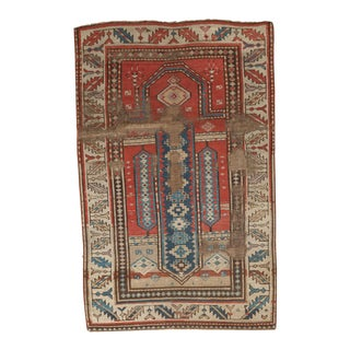 "Antique Caucasian Rug - 3'2"" x 4'10"""