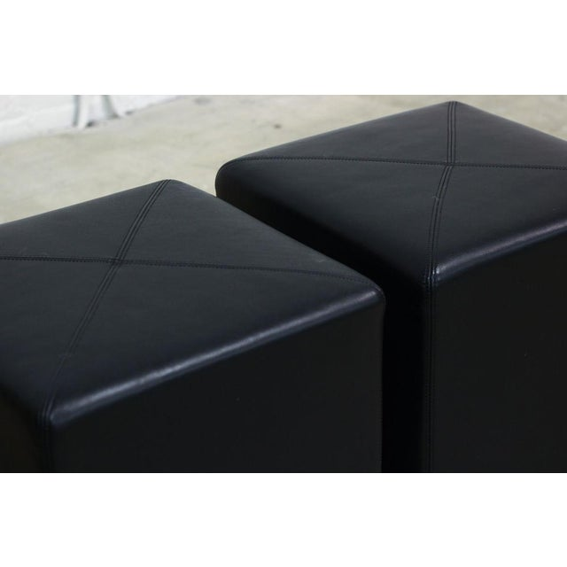Image of Black Cube Ottomans - Pair