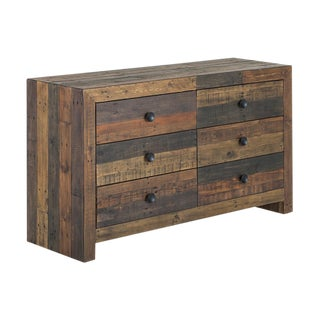 Antique Recycled Pine Six-Drawer Dresser
