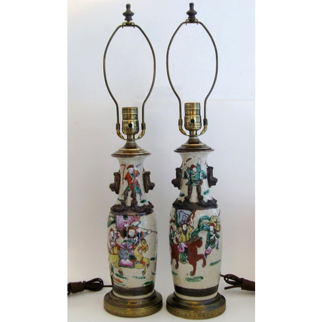 Chinese Porcelain Lamps, A Pair - Image 2 of 5