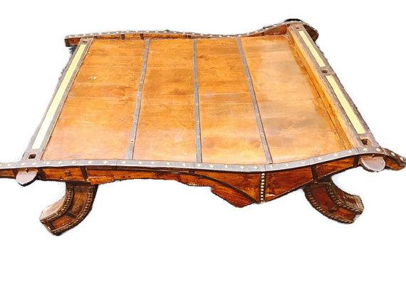 Vintage Indian Ox Cart Coffee Table   Image 1 Of 6
