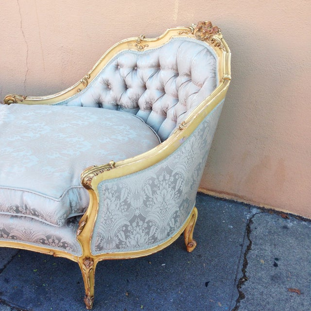 Antique french chaise lounge or fainting couch chairish for Antique french chaise