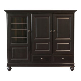 Hooker Furniture Black Wood Cabinet