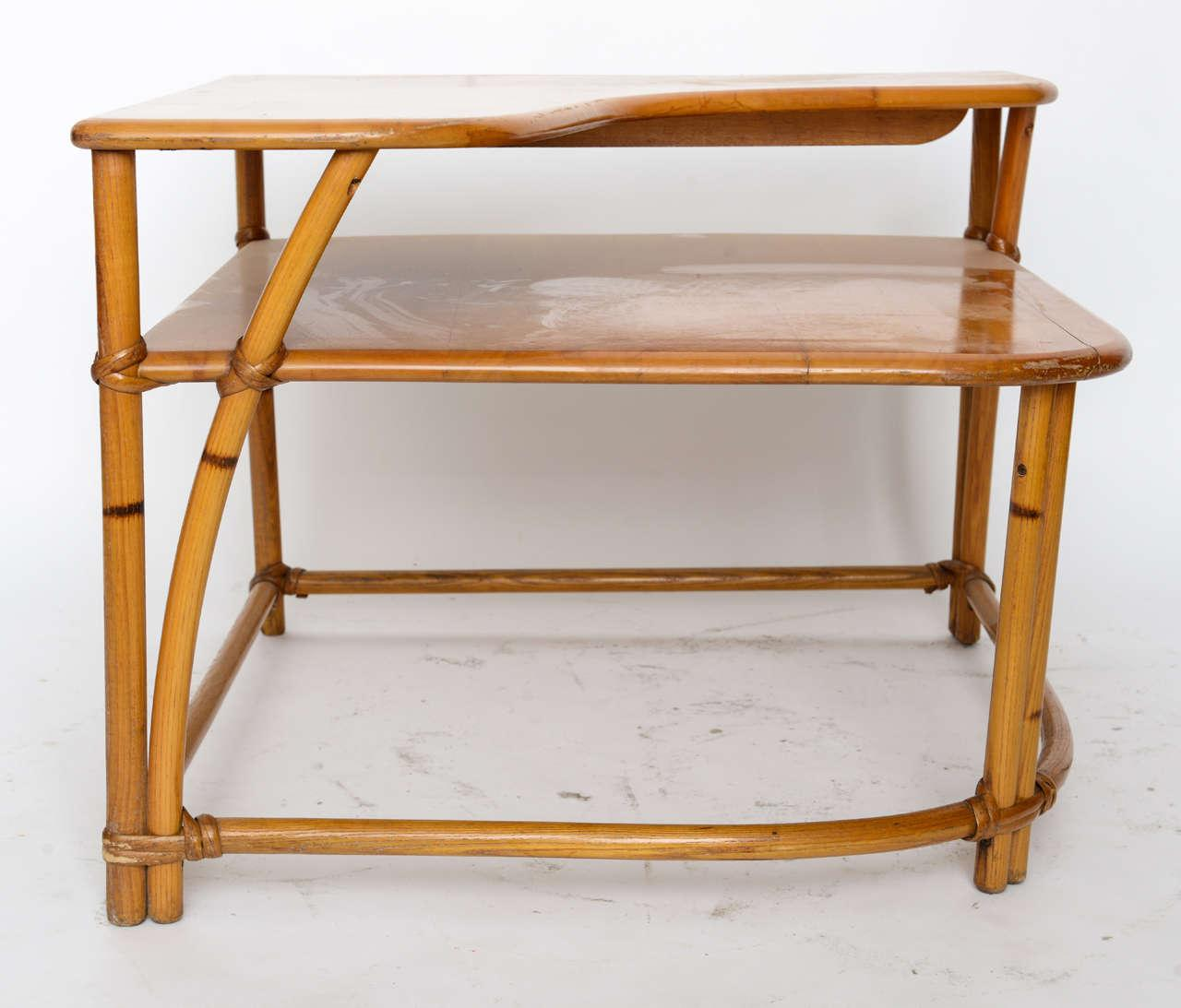 Heywood Wakefield Cane Side Table   Image 2 Of 9