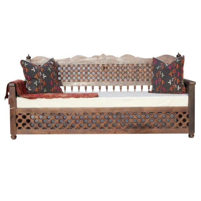 Hand-Carved Mousharabi Daybed - Image 4 of 6