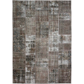 """Hand Knotted Patchwork Rug by Aara Rugs Inc. - 9'9"""" X 7'5"""""""