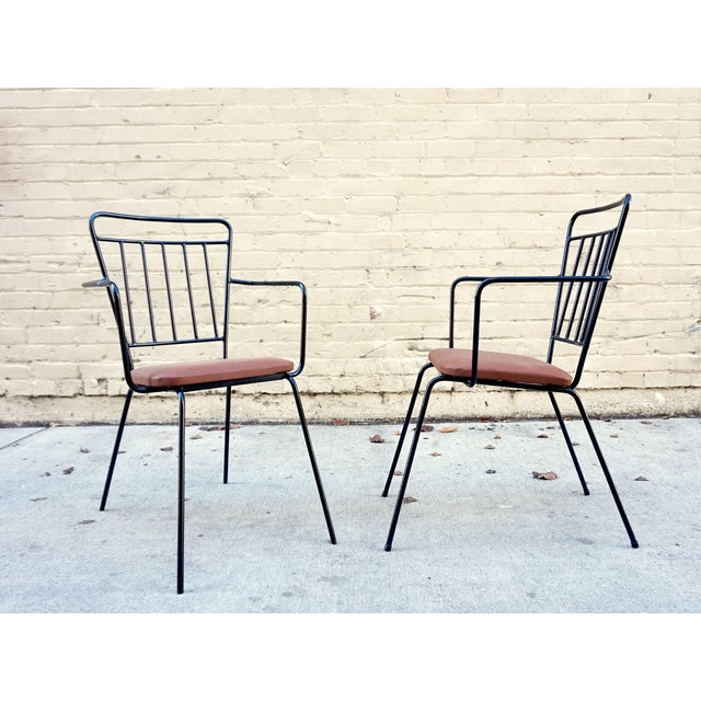Vintage Iron Modernist Chairs - A Pair - Image 5 of 6